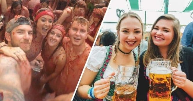 The Oktoberfest and La Tomatina festivals by Busabout
